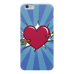 """Чехол для iPhone 6 """"Сердце"""" - любовь, арт, поп арт, ретро, седце"""