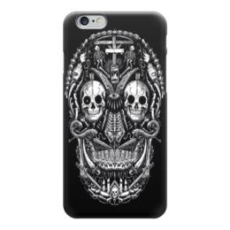 "Чехол для iPhone 6 ""Skull Art"" - skull, череп, skeleton, скелет, арт дизайн"