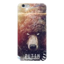 "Чехол для iPhone 6 глянцевый ""Putin"" - рф, политика, путин, россия, медведь"