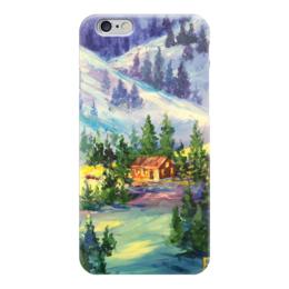 """Чехол для iPhone 6 """"Новогоднее волшебство"""" - новый год, зима, горы"""