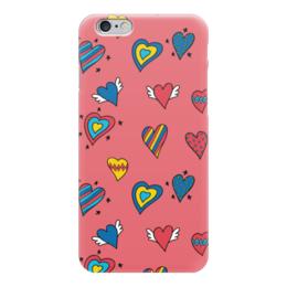 """Чехол для iPhone 6 """"Heart doodles"""" - сердечки, 14февраля, hearts, doodles"""
