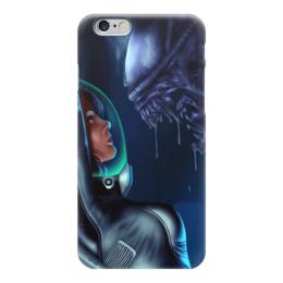 """Чехол для iPhone 6 """"Чужой (Alien)"""" - арт, монстр, пасть, чужой, эллен рипли"""