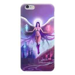 """Чехол для iPhone 6 """"Ангел прошлого и будущего"""" - крылья, ангел, руны, будущее"""