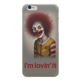 """Чехол для iPhone 6 глянцевый """"Макдональдс - Я люблю это"""" - череп, зомби, макдональдс, mcdonalds, злой клоун"""