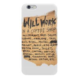"Чехол для iPhone 6 ""WORK!"" - арт, модно, work, работа, стильно"