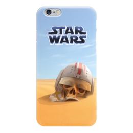 """Чехол для iPhone 6 глянцевый """"STAR WARS"""" - череп, star wars, песок, звездные войны, штурмовик"""