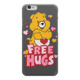 "Чехол для iPhone 6 ""Free Hugs"" - сердце, любовь, bear, мишка, free hugs"