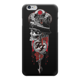"Чехол для iPhone 6 глянцевый ""Foo Fighters Band"" - skull, череп, рок музыка, рок группа, foo fighters"
