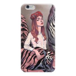 """Чехол для iPhone 6 """"Lana Del Rey"""" - тигр, розы, lana del rey, лана, лана дель рей"""