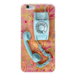 """Чехол для iPhone 6 """"Привет из 90-x: Ретро трубка"""" - ретро, retro, телефон, аппарат"""