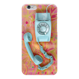 "Чехол для iPhone 6 глянцевый ""Привет из 90-x: Ретро трубка"" - ретро, аппарат, телефон, retro"