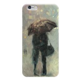 """Чехол для iPhone 6 """"Влюбленные"""" - love, 14 февраля, дождь, пара, влюбленные"""