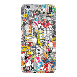 "Чехол для iPhone 6 глянцевый ""Стикеры, наклейки"" - jdm, стикеры, стикер-арт, sticker bombing"