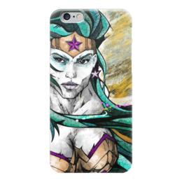 """Чехол для iPhone 6 """"Чудо-Женщина (Wonder Woman)"""" - комиксы, dc comics, чудо-женщина, wonder woman, вондер вуман"""