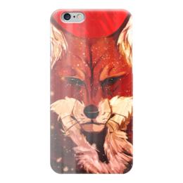 """Чехол для iPhone 6 """"Темный лис"""" - red, красный, лис, fox, темный"""