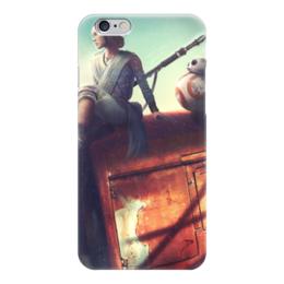 """Чехол для iPhone 6 """"Звёздные войны (Star Wars)"""" - рей, bb-8"""