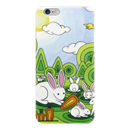"Чехол для iPhone 6 ""Lollypups #3 (hares) "" - арт, позитив, заяц, кролик, морковка"