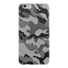 """Чехол для iPhone 6 """"Серо-Чёрный Камуфляж"""" - армия, камуфляж, camouflage, военный, серо чёрный камуфляж"""