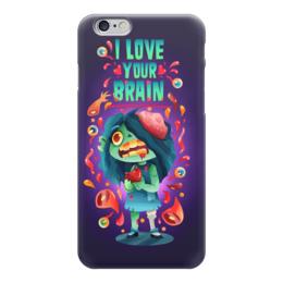 "Чехол для iPhone 6 глянцевый ""Милашка зомби"" - любовь, арт, zombie, зомби, девочка"