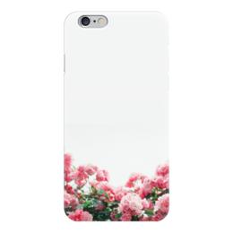"""Чехол для iPhone 6 глянцевый """"Цветы"""" - цветы, розовые"""