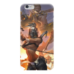 "Чехол для iPhone 6 ""Overwatch"" - blizzard, близзард, овервотч, турбосвин, крысавчик"