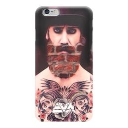 "Чехол для iPhone 6 глянцевый ""Борода Кирпич "" - арт, тату, бородач, борода"