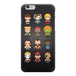 "Чехол для iPhone 6 глянцевый ""Уличный Боец (Street Fighter)"" - файтинг, драка, уличный боец, street fighter"