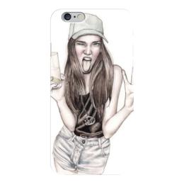 "Чехол для iPhone 6 ""super_girl"" - девушка, girl, рисунок, чика"