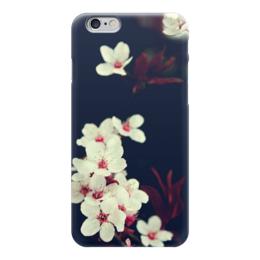 "Чехол для iPhone 6 глянцевый ""Малус"" - цветы, белые, мило, красиво"