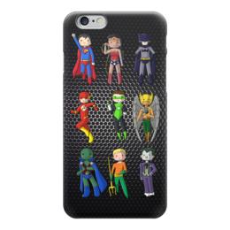"""Чехол для iPhone 6 глянцевый """"Супергерои Комиксов"""" - супермен, бэтмен, batman, flash, зеленый фонарь"""