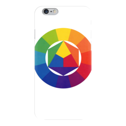 """Чехол для iPhone 6 глянцевый """"Цветовой круг художника"""" - арт, круг, цвета, colors"""