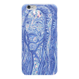 "Чехол для iPhone 6 глянцевый ""Bob Marley"" - музыка, арт, ямайка, bob marley, reggae, рэгги, фан, боб марли"