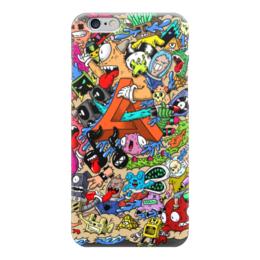 """Чехол для iPhone 6 """"Doodle: MA Dubstep"""" - монстры, doodle, каракули"""