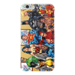 "Чехол для iPhone 6 ""Супергерои"" - batman, superman, супергерои, green lantern, wonder woman"