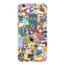 "Чехол для iPhone 6 ""Мультфильмы"" - мультфильмы, времяприключений, покемоны, южныйпарк"
