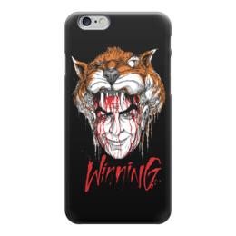 """Чехол для iPhone 6 глянцевый """"Winning"""" - арт, животные, ужасы, иллюстрация, графика"""
