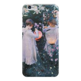 """Чехол для iPhone 6 """"Гвоздика, лилия, лилия, роза"""" - картина, сарджент"""