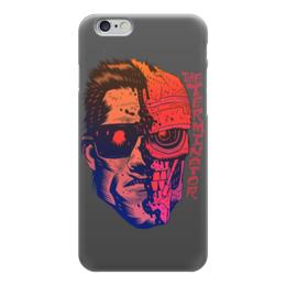 "Чехол для iPhone 6 глянцевый ""Terminator"" - arnold schwarzenegger, terminator, арнольд шварцнегер, терминатор, кино"