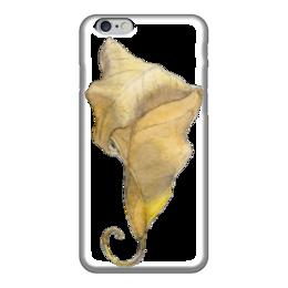 """Чехол для iPhone 6 """"Лист Фикуса Бенджамина"""" - арт, лист, акварель, авторская работа, фикус"""