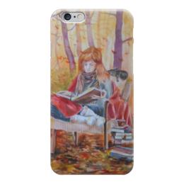 """Чехол для iPhone 6 """"Истории осени"""" - осень, котики, уют, листопад, чай и плед"""