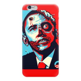 """Чехол для iPhone 6 глянцевый """"Obama Zombie"""" - zombie, зомби, америка, обама, президент, america, president, obama"""