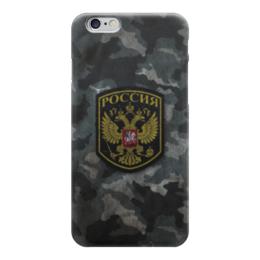 """Чехол для iPhone 6 """"Россия Камуфляж"""" - армия, россия, солдат, камуфляж, шеврон"""
