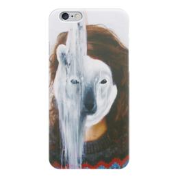 "Чехол для iPhone 6 ""Белый мишка"" - белый мишка, polar bear"
