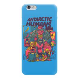 "Чехол для iPhone 6 ""Antarctic Humans"" - обезьяна, рок музыка, рок группа, арт прикол, antarctic monkeys"