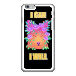 "Чехол для iPhone 6 ""Red wolf"" - рисунок, собака, пёс, мотивация, волк"