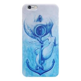 """Чехол для iPhone 6 """"Адриан Борда / Ангел - Русалка"""" - любовь, арт, ангел, якорь, в подарок, иллюстрация, blue, сюрреализм, русалка, адриан борда"""