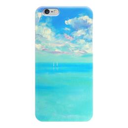 "Чехол для iPhone 6 ""Умиротворение"" - море, небо, blue, funny smile"