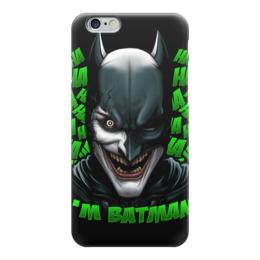 """Чехол для iPhone 6 глянцевый """"Бэтмен/Джокер"""" - бэтмен, комиксы, джокер, batman, joker"""