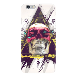 "Чехол для iPhone 6 ""Skull in triangle"" - skull, череп, swag, иллюминаты, illuminati"
