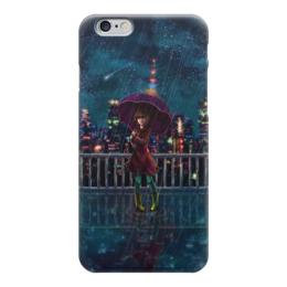 """Чехол для iPhone 6 глянцевый """"Ночное небо"""" - аниме, ночь, звёзды, дождь"""